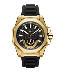 Delmare 18k gold-plated & black watch