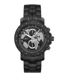 Veyron black ion-plated & diamond watch