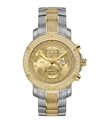 Veyron dual-tone & diamond watch