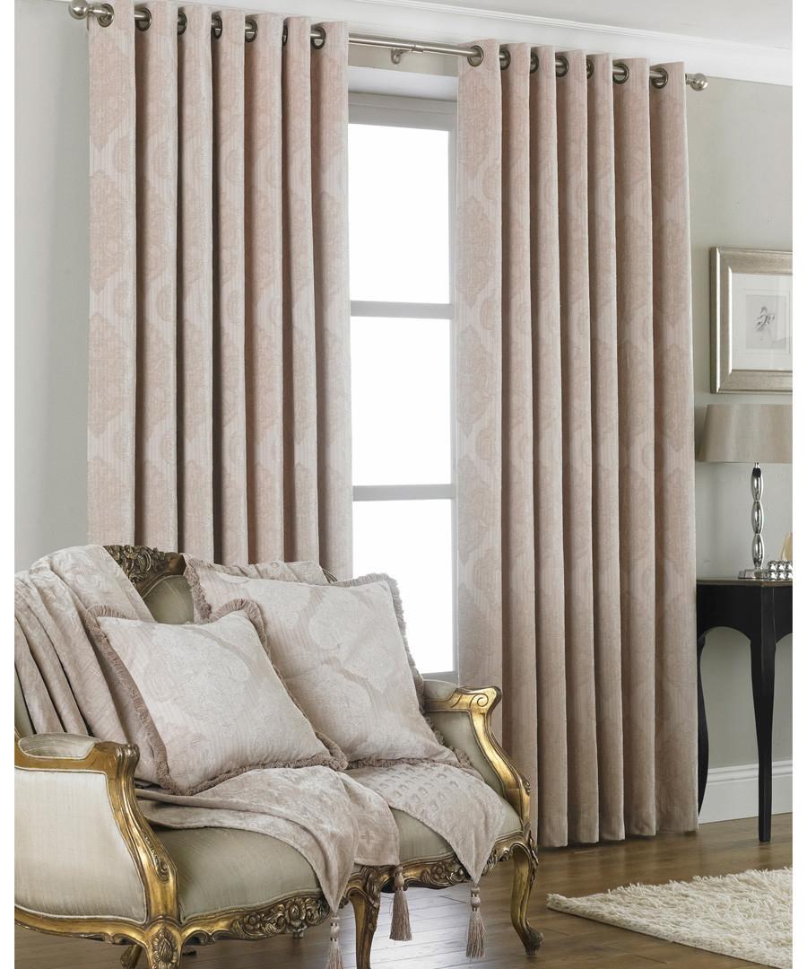 Winchester natural curtains 229 x 229cm Sale - riva paoletti
