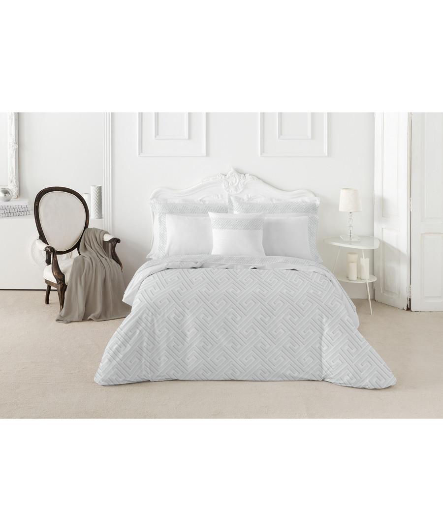 Nordicos king white cotton duvet set Sale - pure elegance