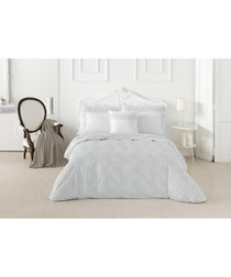 Nordicos white cotton king duvet set