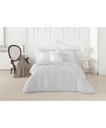 Nordicos white cotton double duvet set