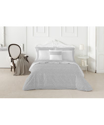 Nordicos grey cotton king duvet set