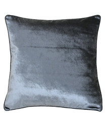 Luxe anthracite velvet cushion 55cm