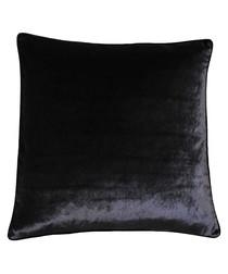 Luxe black velvet cushion 55cm