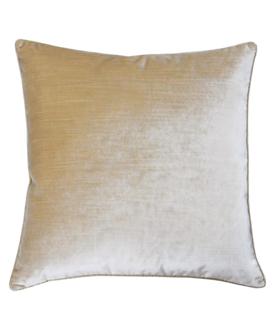 Luxe champagne velvet cushion 55cm Sale - riva paoletti