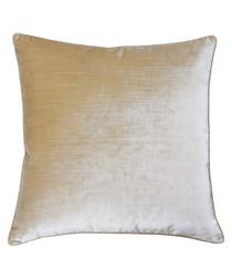 Luxe champagne velvet cushion 55cm