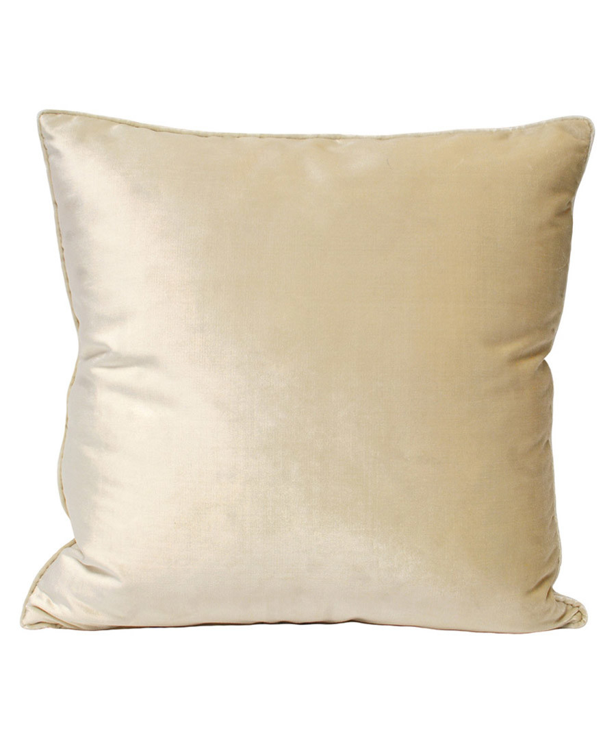 Luxe ivory velvet cushion 55cm Sale - riva paoletti