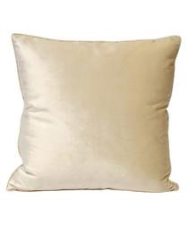 Luxe ivory velvet cushion 55cm