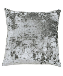 Neptune pewter velvet cushion 58cm