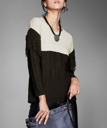 Apricot contrast panel jumper