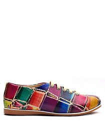 Multi-coloured patchwork shoes