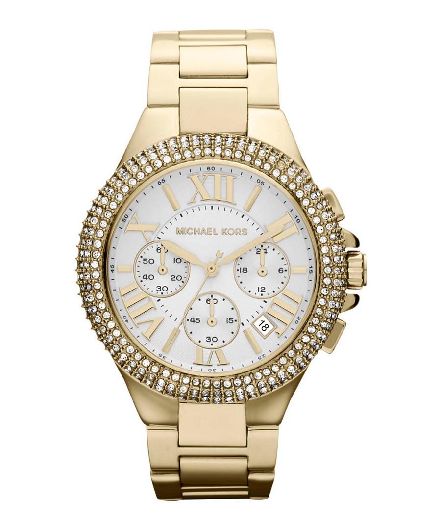 Camille gold-tone & crystal bezel watch Sale - michael kors