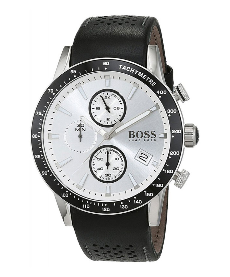 Black & silver-tone leather watch Sale - Hugo Boss