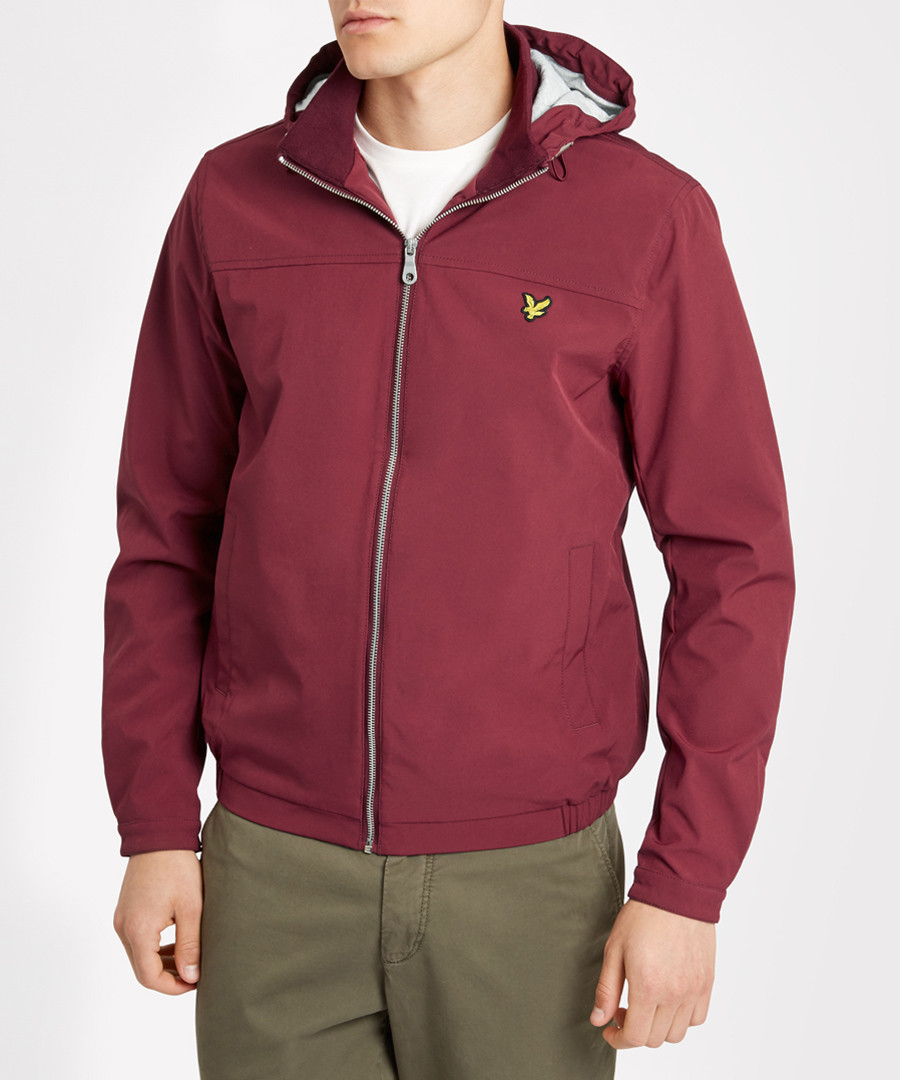 Claret cotton blend hooded jacket Sale - Lyle & Scott