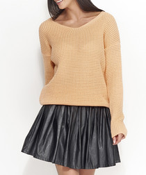 Apricot chunky knit jumper