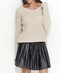 Beige chunky knit jumper