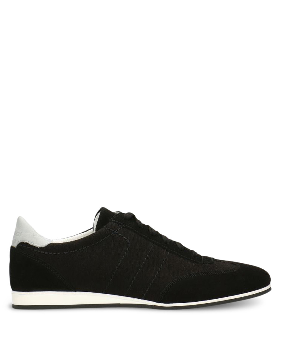 Black & white suede stitch sneakers Sale - gino rossi