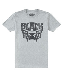 Grey pure cotton Black Panther T-shirt