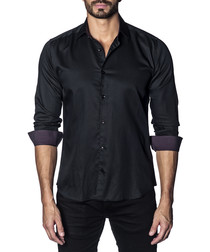 Black pure cotton long sleeve shirt