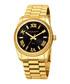 Gold-tone steel Roman numeral watch Sale - akribos XXIV Sale
