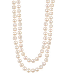 White shell pearl endless necklace