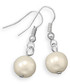 Silver-plated pearl drop earrings  Sale - liv oliver Sale