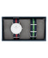 2pc Silver-tone striped watch set  Sale - paul mcneal Sale