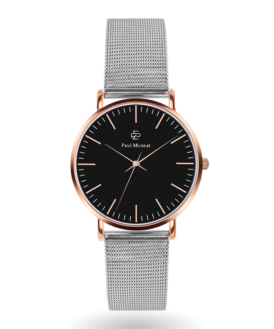 Silver-tone & rose steel watch Sale - Paul McNeal