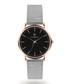 Silver-tone & rose steel watch Sale - Paul McNeal Sale