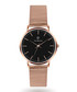 Rose gold-tone steel mesh strap watch Sale - Paul McNeal Sale