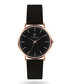 Rose gold-tone & black steel watch Sale - Paul McNeal Sale