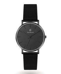 Black & silver-tone steel watch