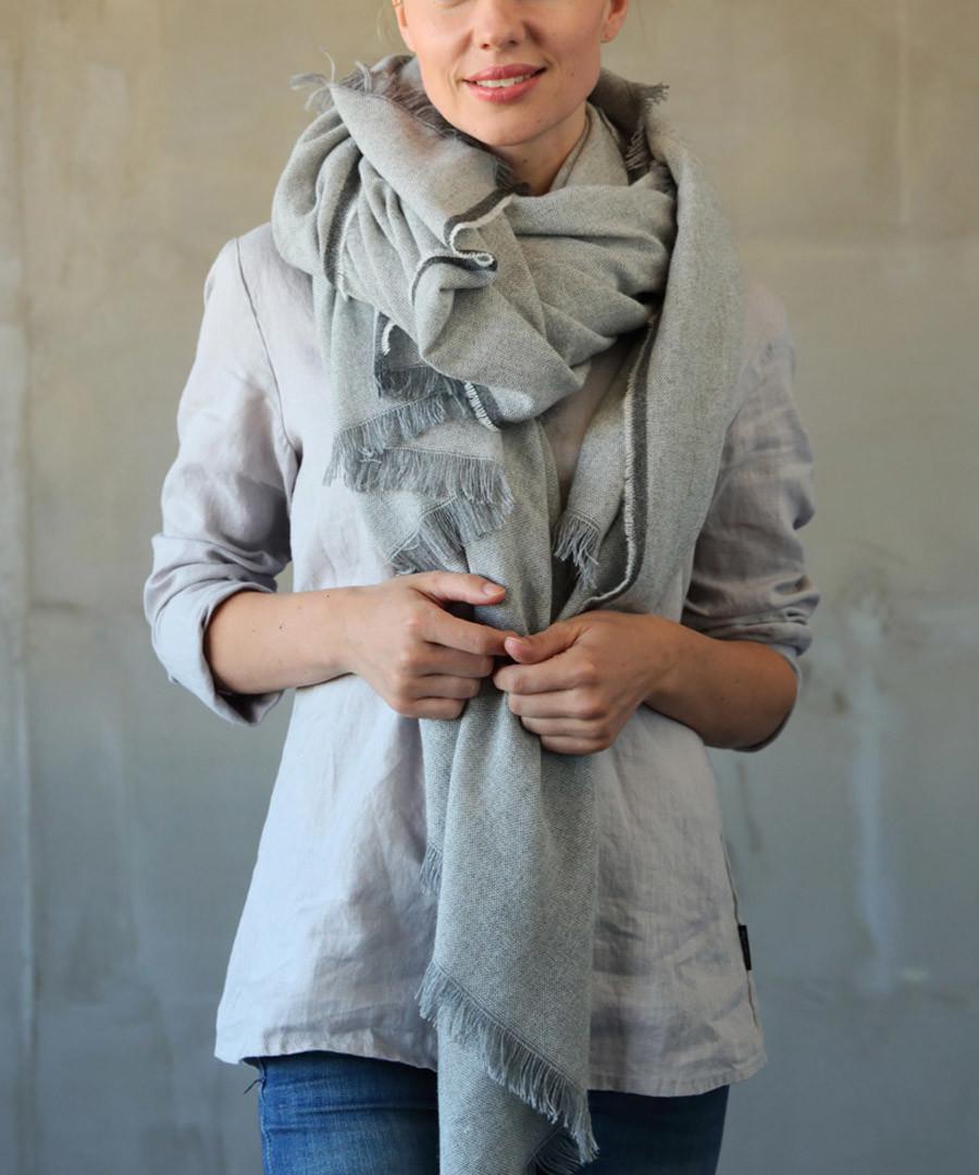 Salvatore silver cashmere blend scarf Sale - Wool Me