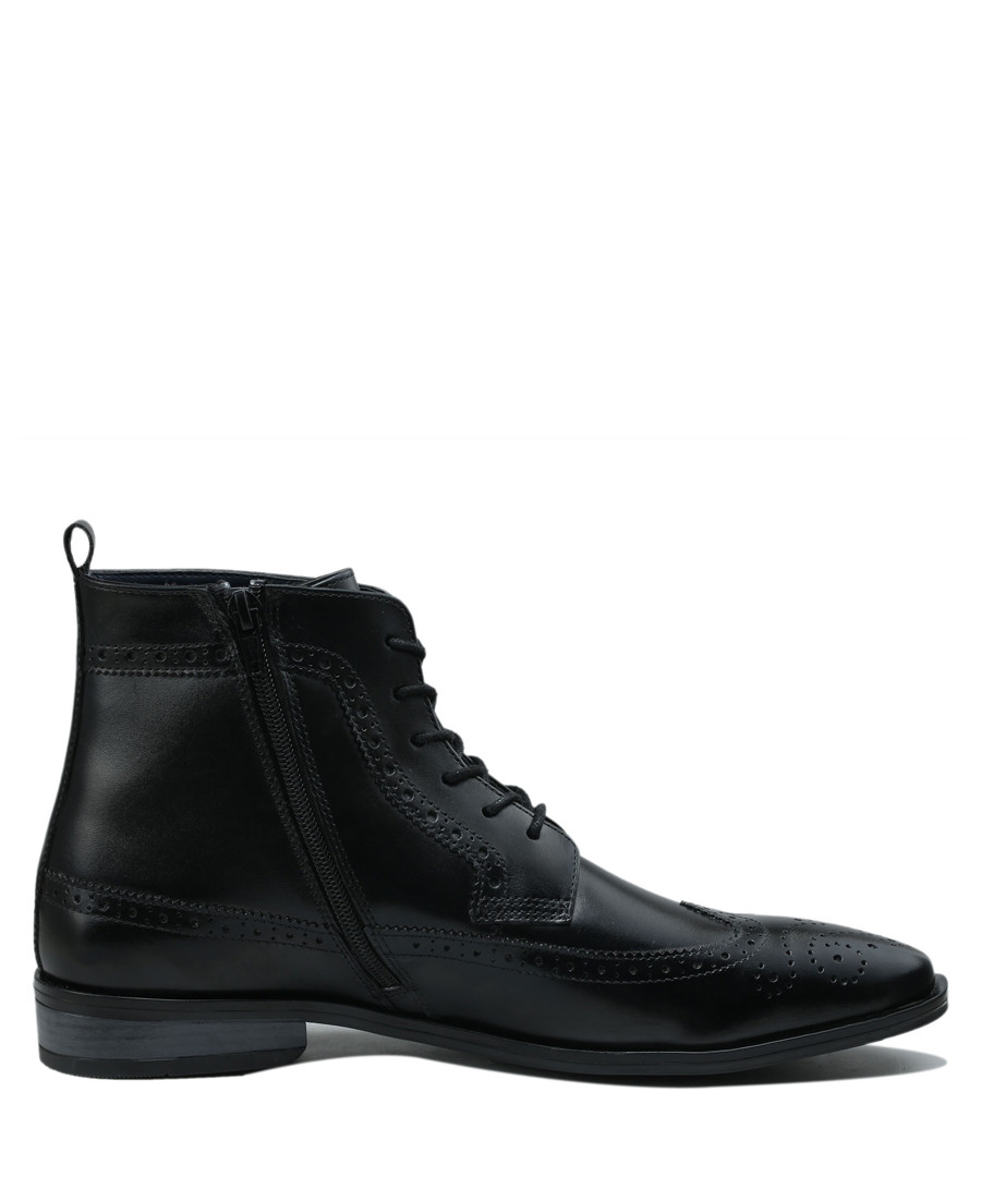 Black leather desert boots  Sale - Amati Regazzi