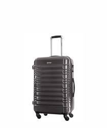 Grey spinner suitcase 55cm