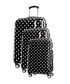 3pc Black spotted spinner suitcase nest Sale - platinium Sale