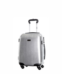 Silver spinner suitcase 48cm