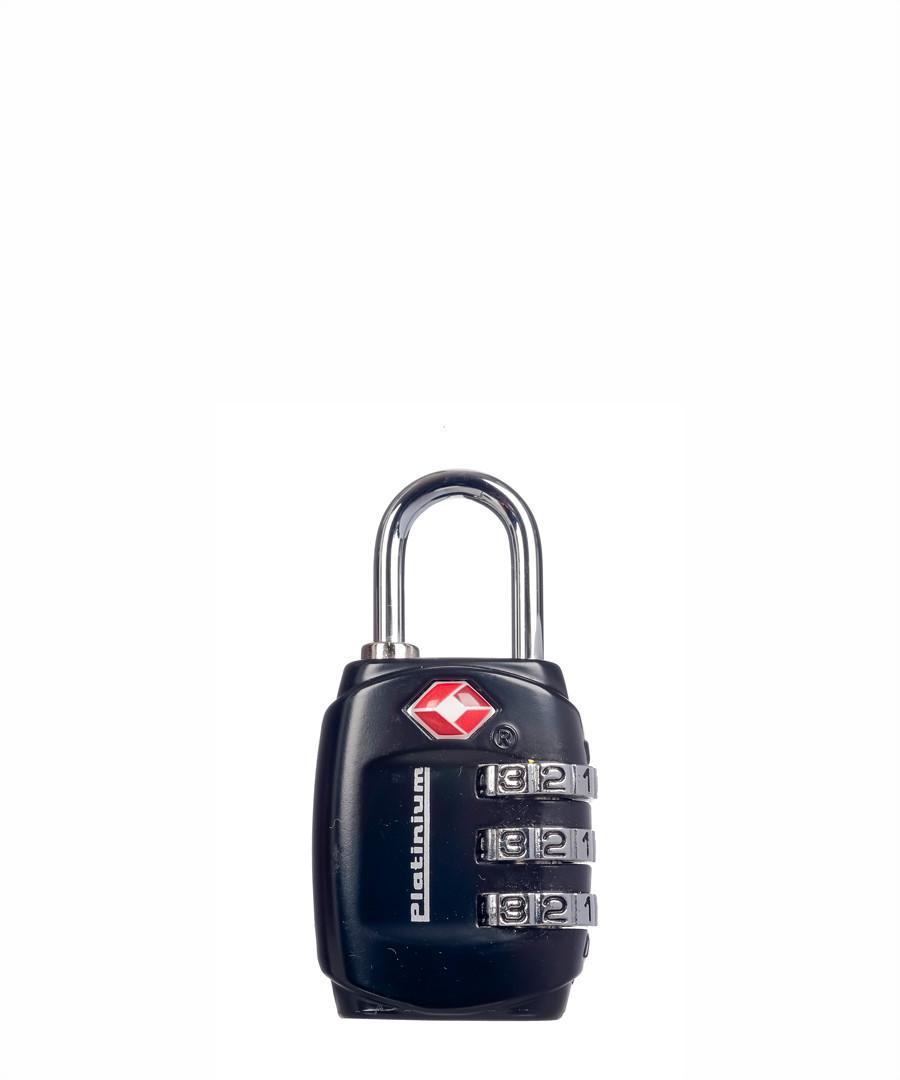 Black metal travel lock  Sale - platinium