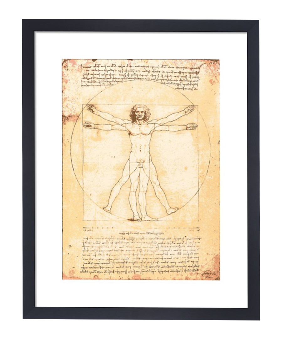 Discount Vitruvian Man framed print | SECRETSALES