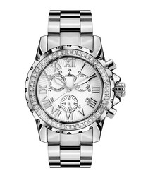 Romantica silver-tone crystal watch