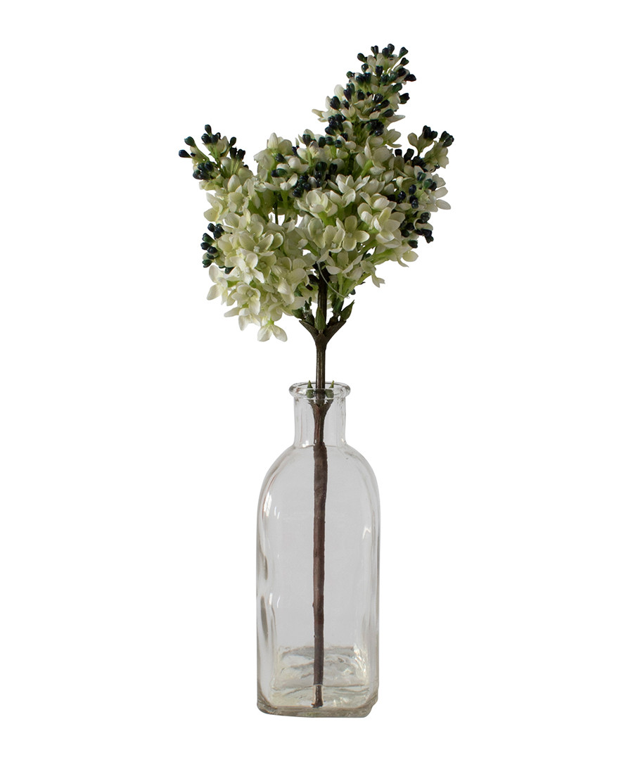 Artificial stocks & glass vase 37cm Sale - Gallery