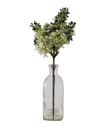 Artificial stocks & glass vase 37cm