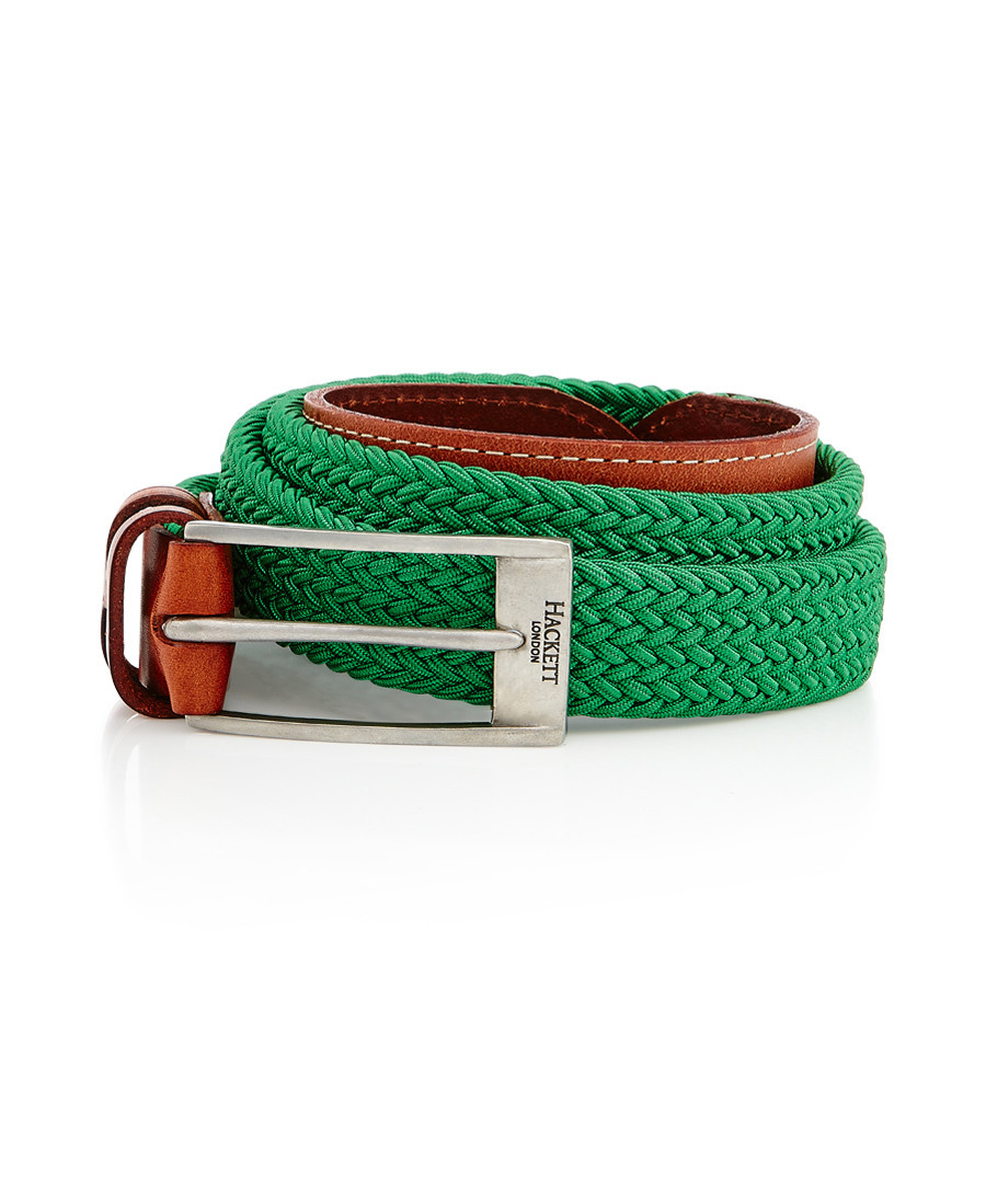 Parachute green leather weave belt Sale - hackett