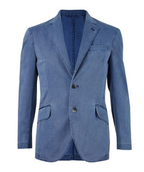 Blue pure cotton blazer