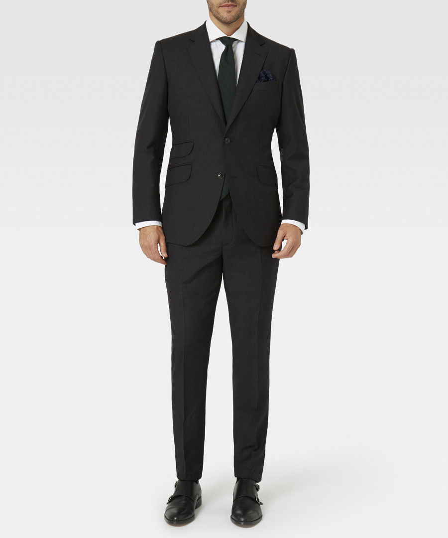 Dark grey pure wool blazer Sale - hackett