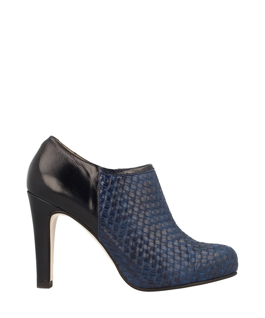 Blue leather weave-effect heeled shoes Sale - Roberto Botella