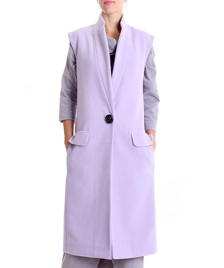 Lavender wool blend sleeveless coat Sale - Andrea Crocetta