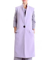 Lavender wool blend sleeveless coat